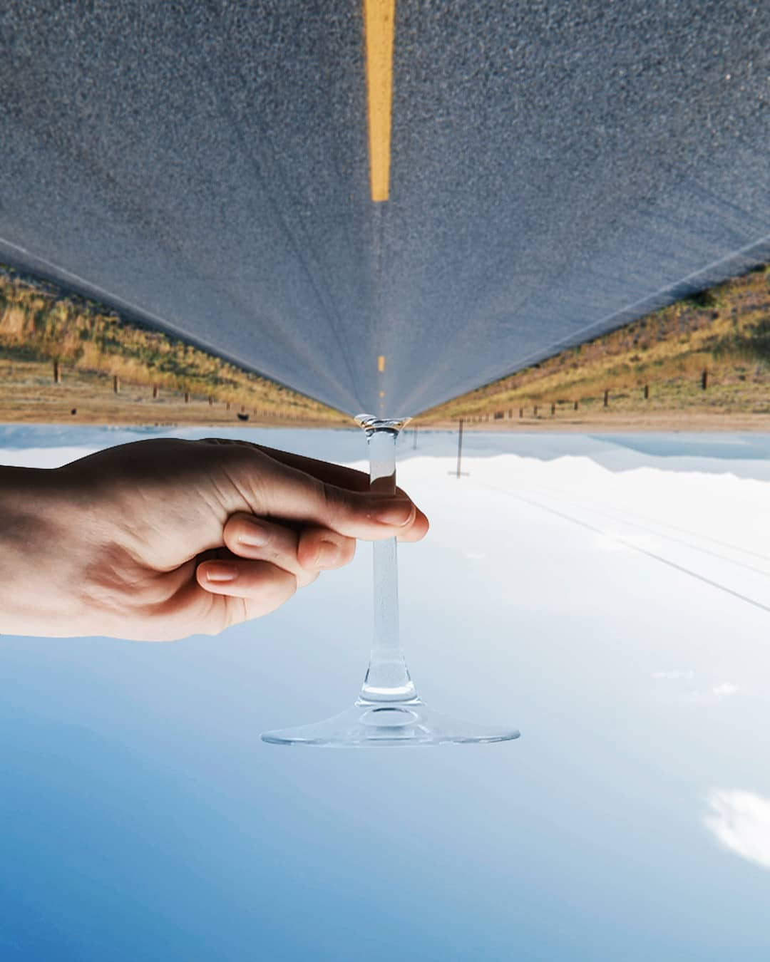 forced perspective photography glass by hugo suissas