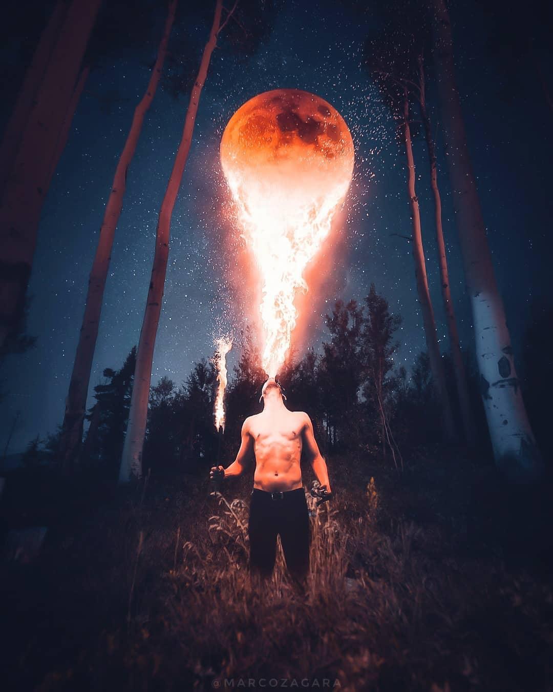 photo manipulation fire by marco zagara