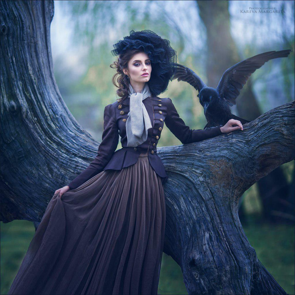 fantasy photography crow by kareva margarita