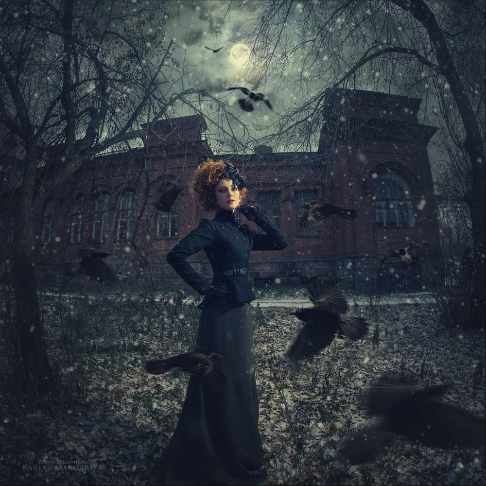 fantasy photography fallen by kareva margarita