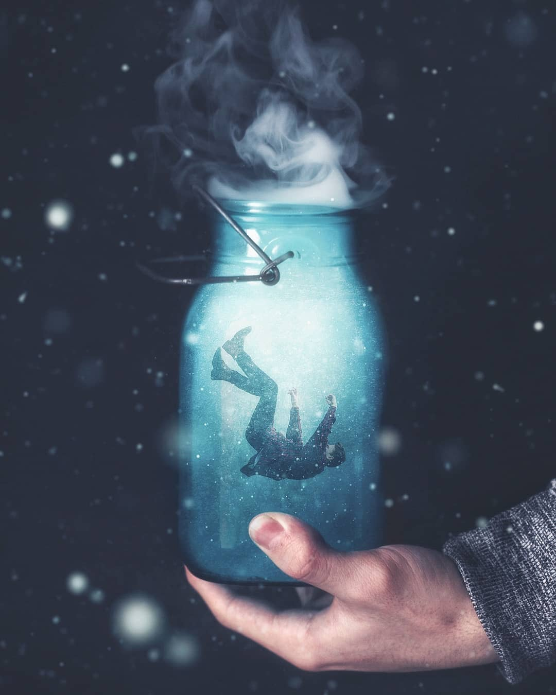 photo manipulation bottle by marco zagara