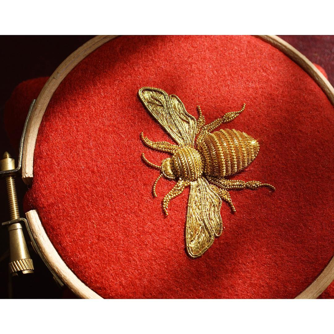 hand embroidery insect