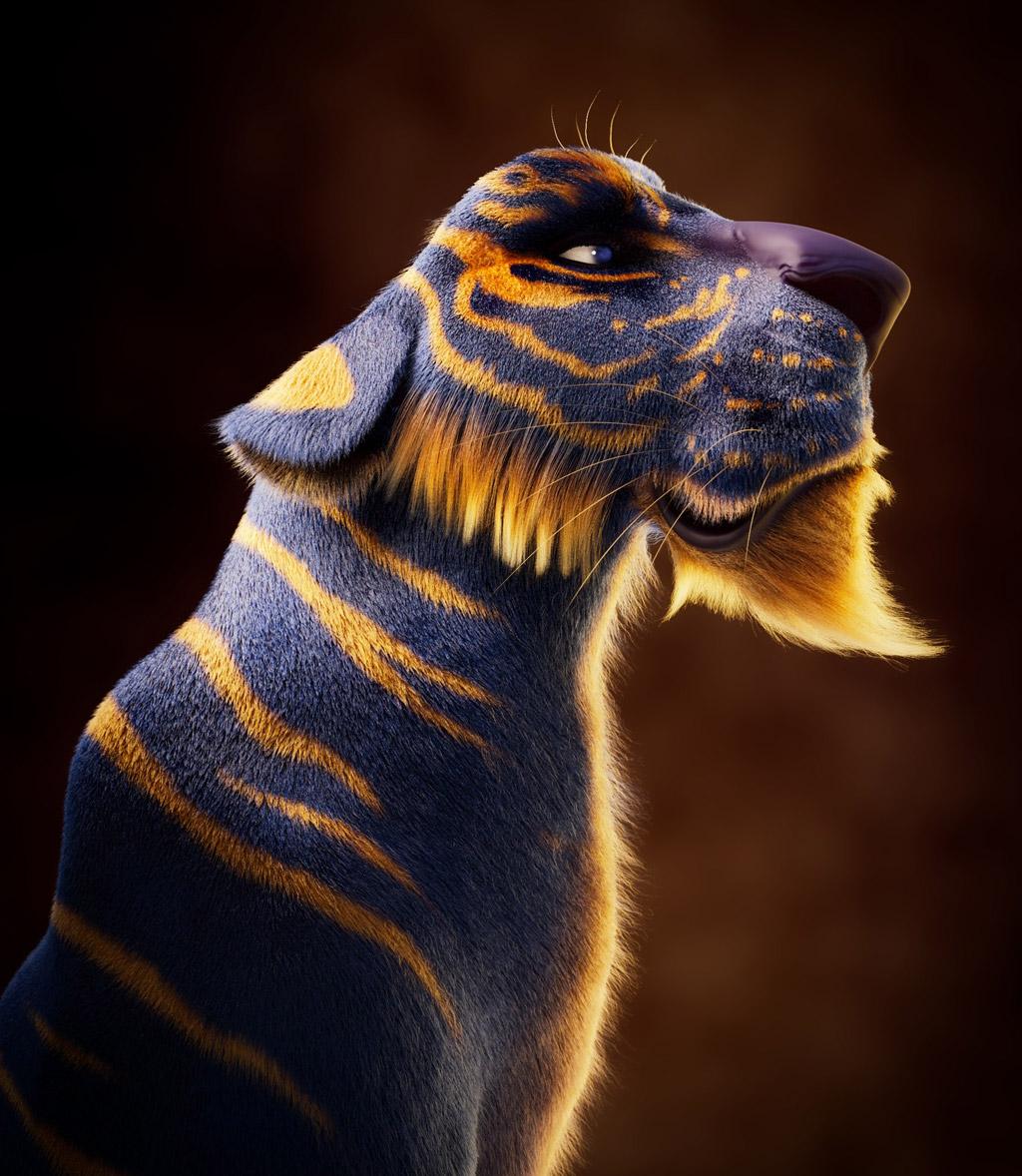 3d model tiger by meine pischedda