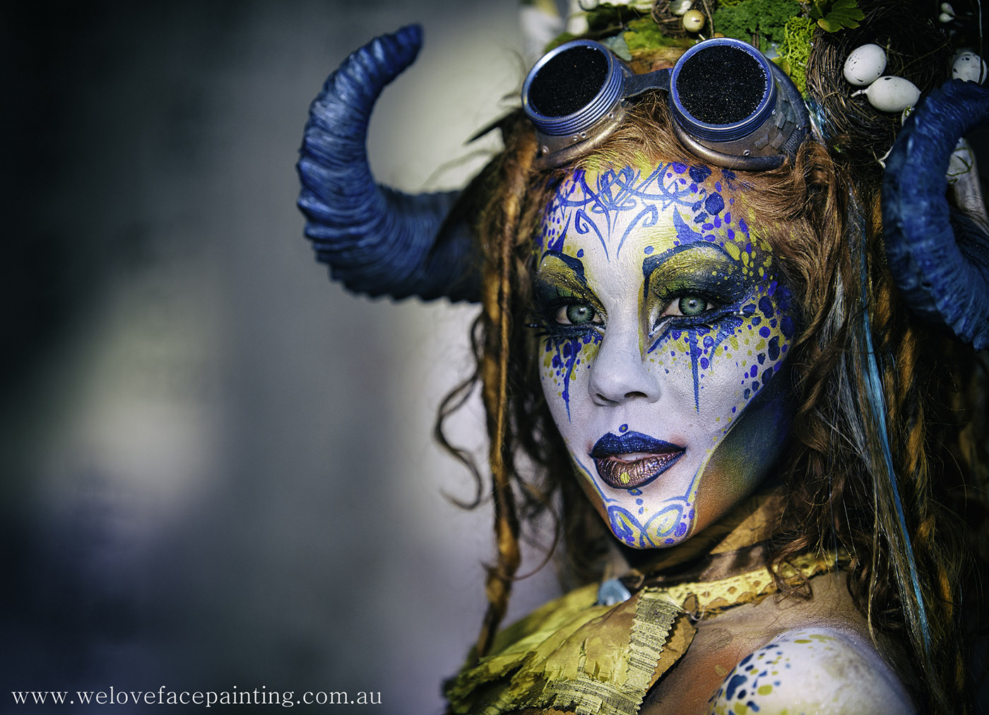 body painting junglewoan by welovefacepainting