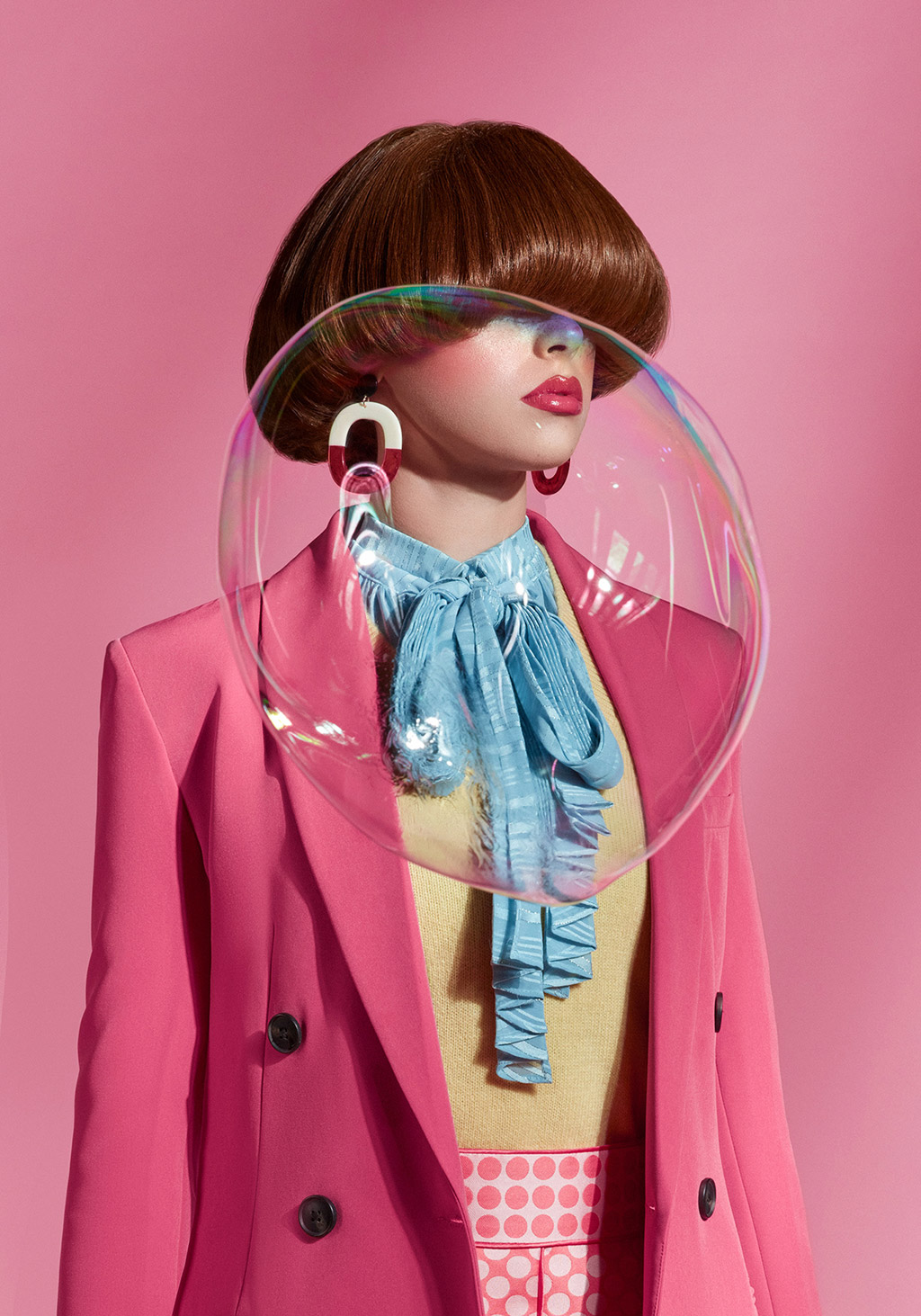 fashion photography girl bubble by ahmed othman