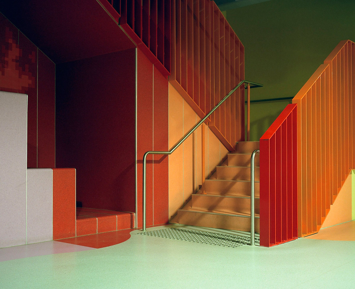 photography colorful stairs by mamiya