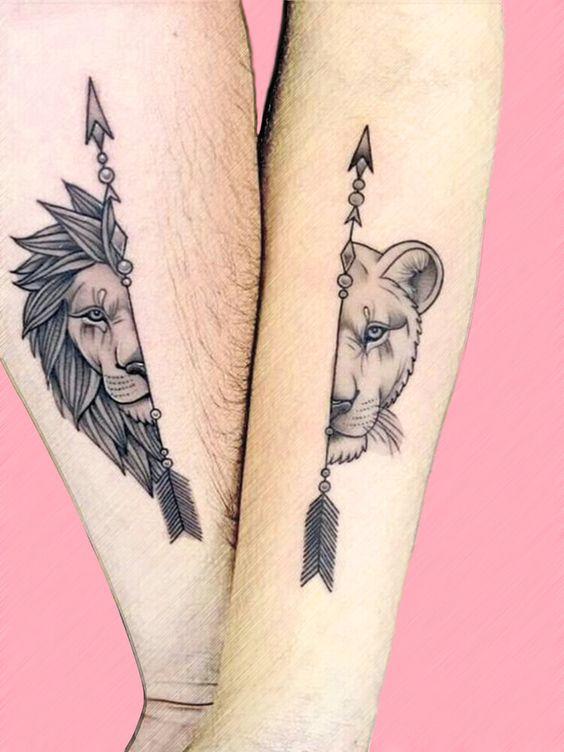 tattoo design half animal faces