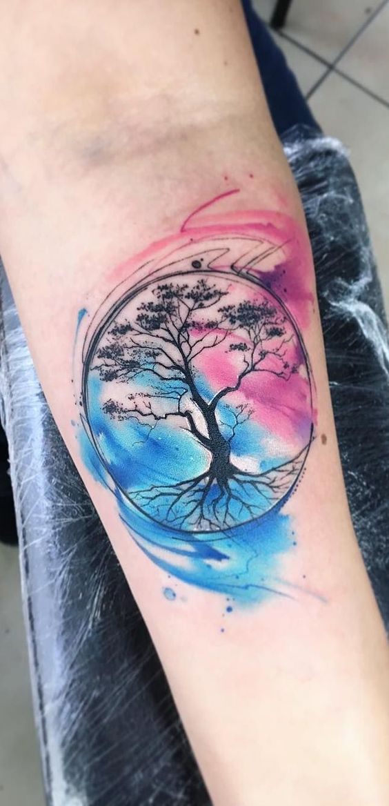 tattoo design watercolors by adrian bascur