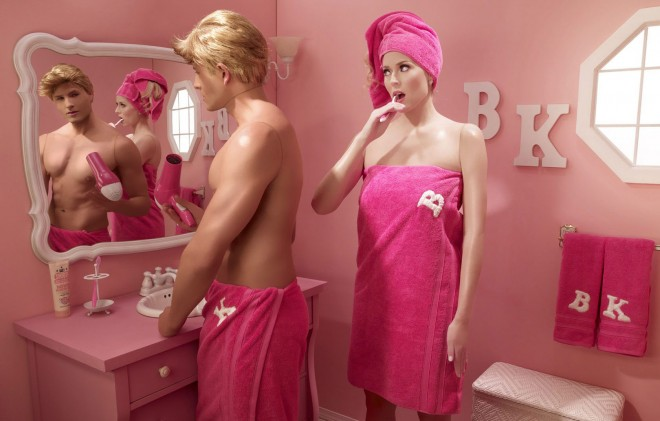 advertising photography dollhouse barbi girl by dina goldstein