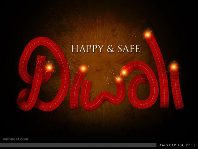 diwali greetings crackers card by imgraphik