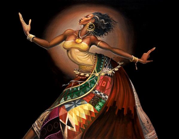 Black Art Dance Painting