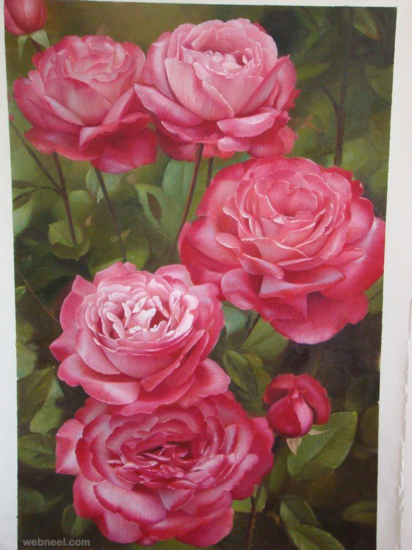 flower painting rose