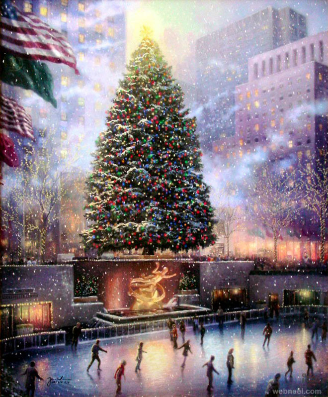 40 Beautiful Christmas Paintings For Your Inspiration Part 2
