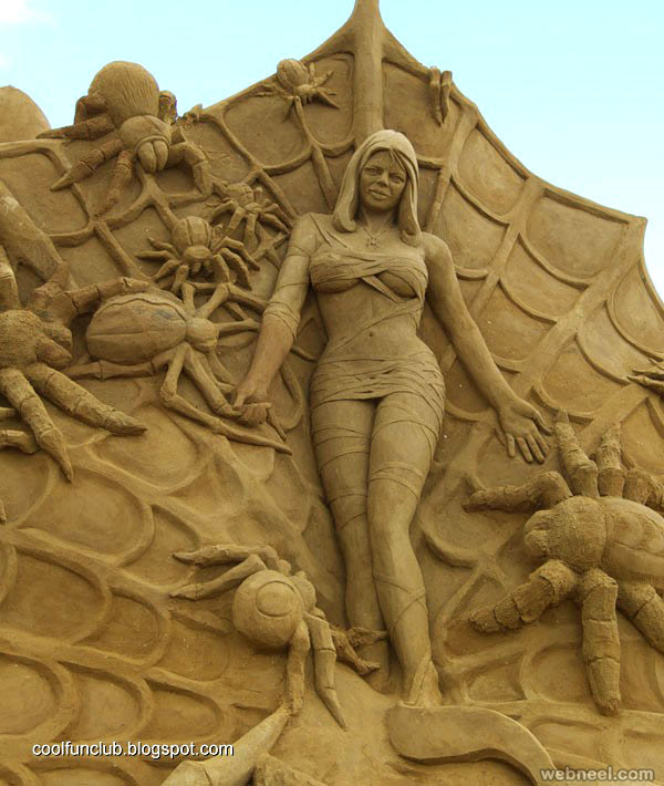 woman sand sculpture