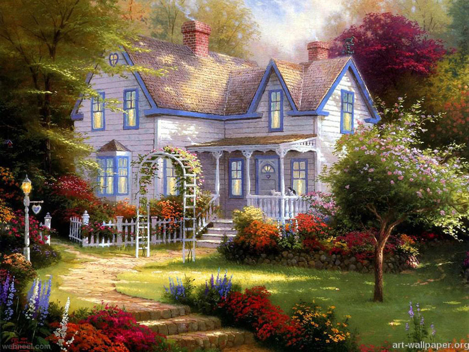 6-christmas-paintings-by-thomas-kinkade Painting Walls Home Designs on decorating ideas painting walls, diy painting walls, home design glass walls, style painting walls, painting interior walls, dining room painting walls, home decorating painting walls, men painting walls,