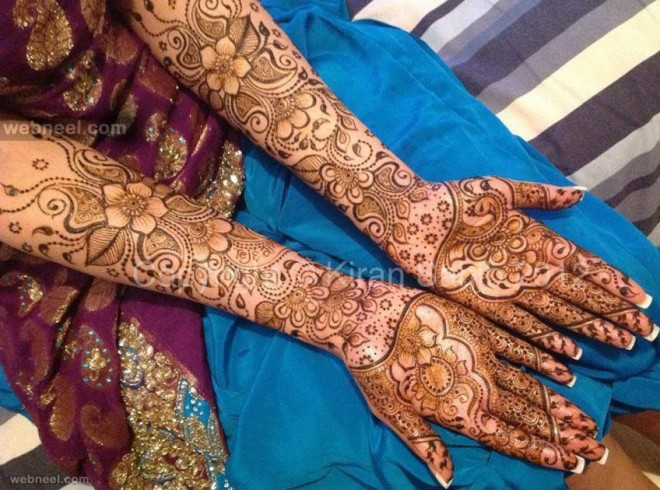 bridal mehndi designs by kiran
