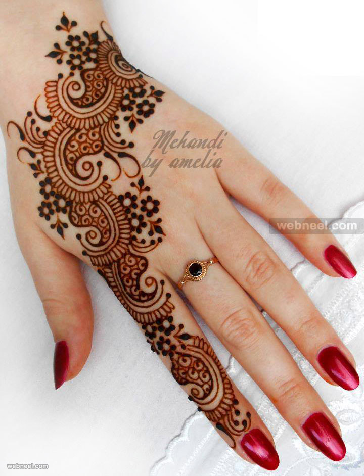 bridal mehndi designs by amelia