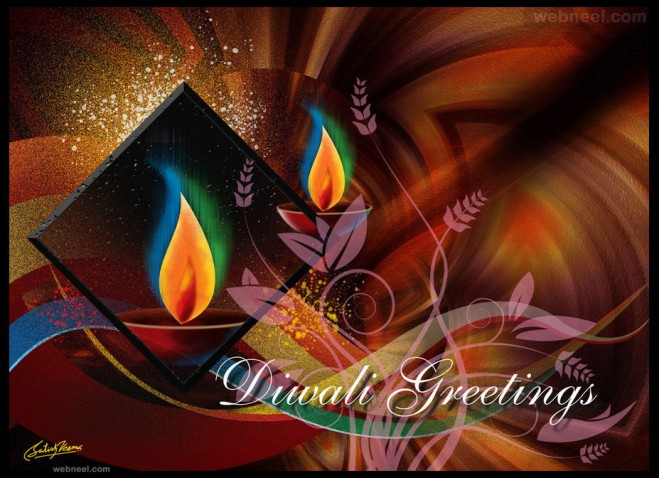 diwali greeting cards by satishverma