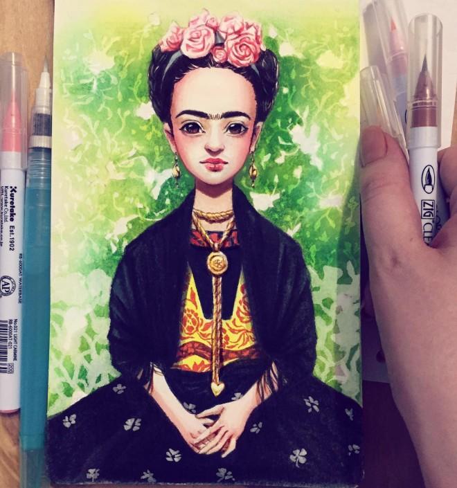 celebrity color pencil drawing by lera kiryakova
