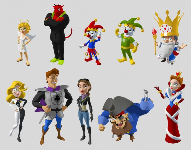 3d cartoon slingo characters by andrew