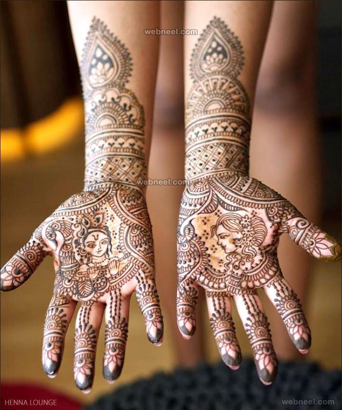 mehndi design krishna full hand