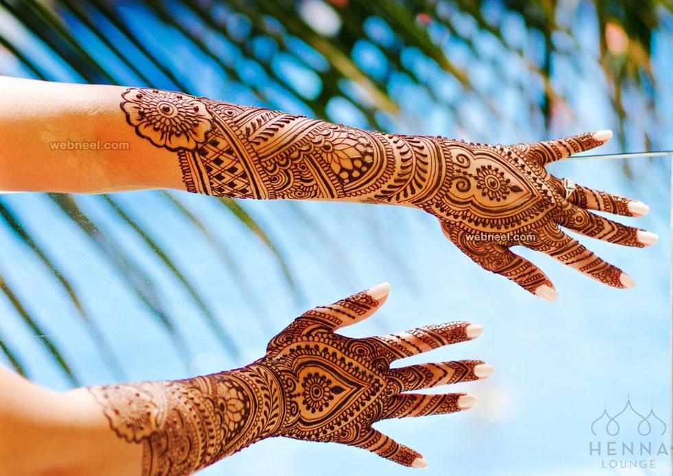 mehndi design full hand azul by darcy vasudev