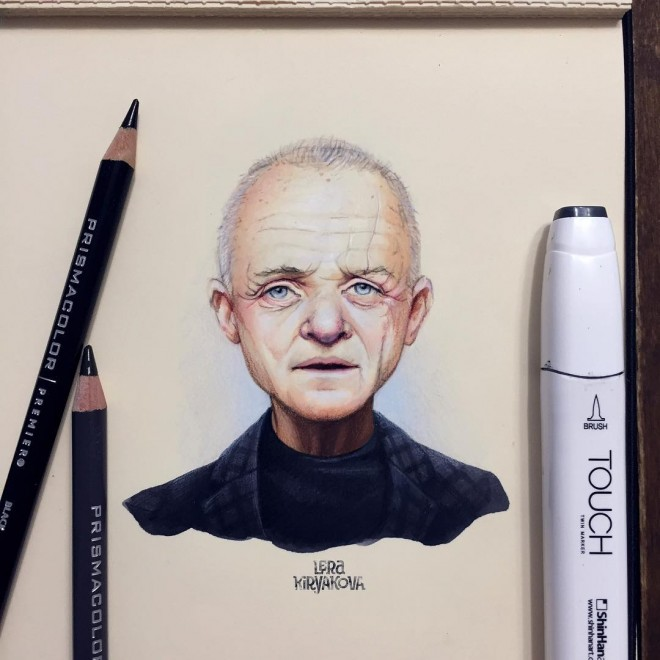 celebrity color pencil drawing by lera kiryakova