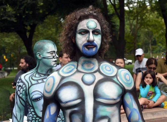 aliens world body painting festival poertschach