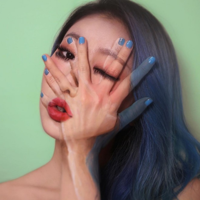 illusion face painting by dain yoon