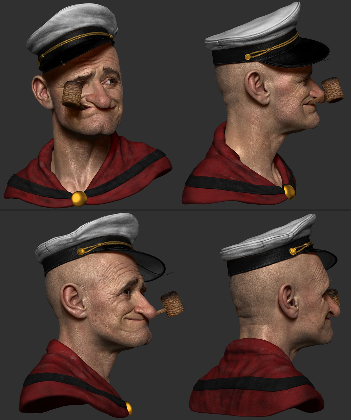 zbrush model 3d sailor man