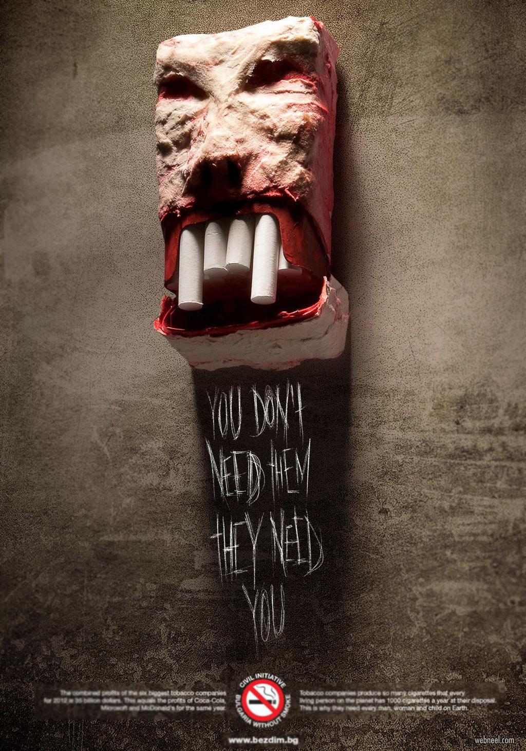 anti smoking ads by bezdim