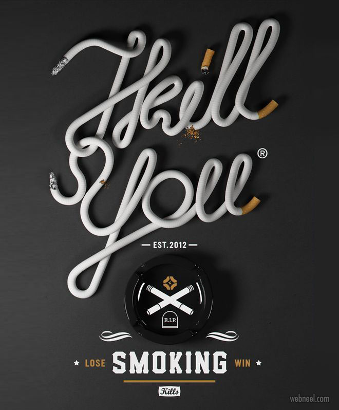 anti smoking advertisement poster