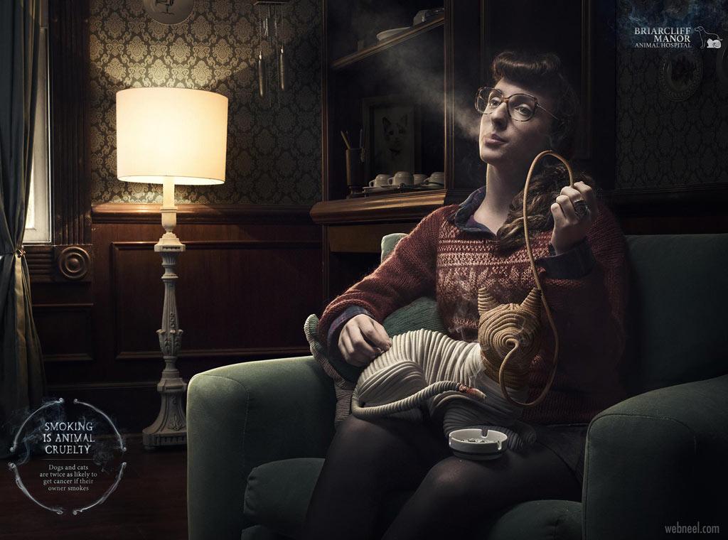 anti smoking advertisement animal