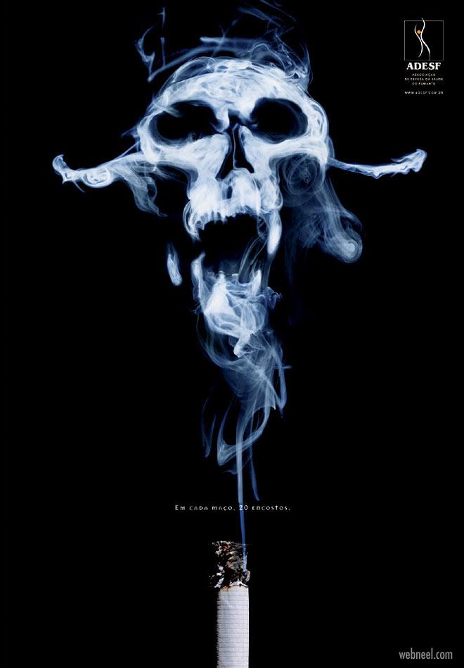 anti smoking advertisement poster