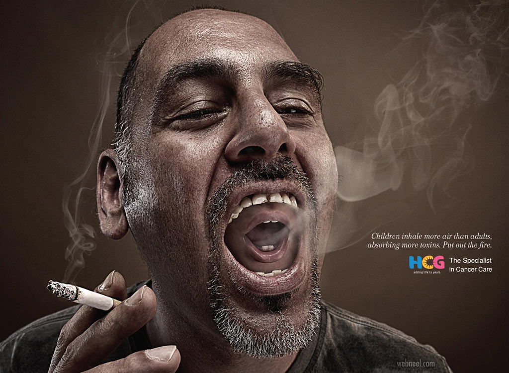 anti smoking ads poster children by hcg