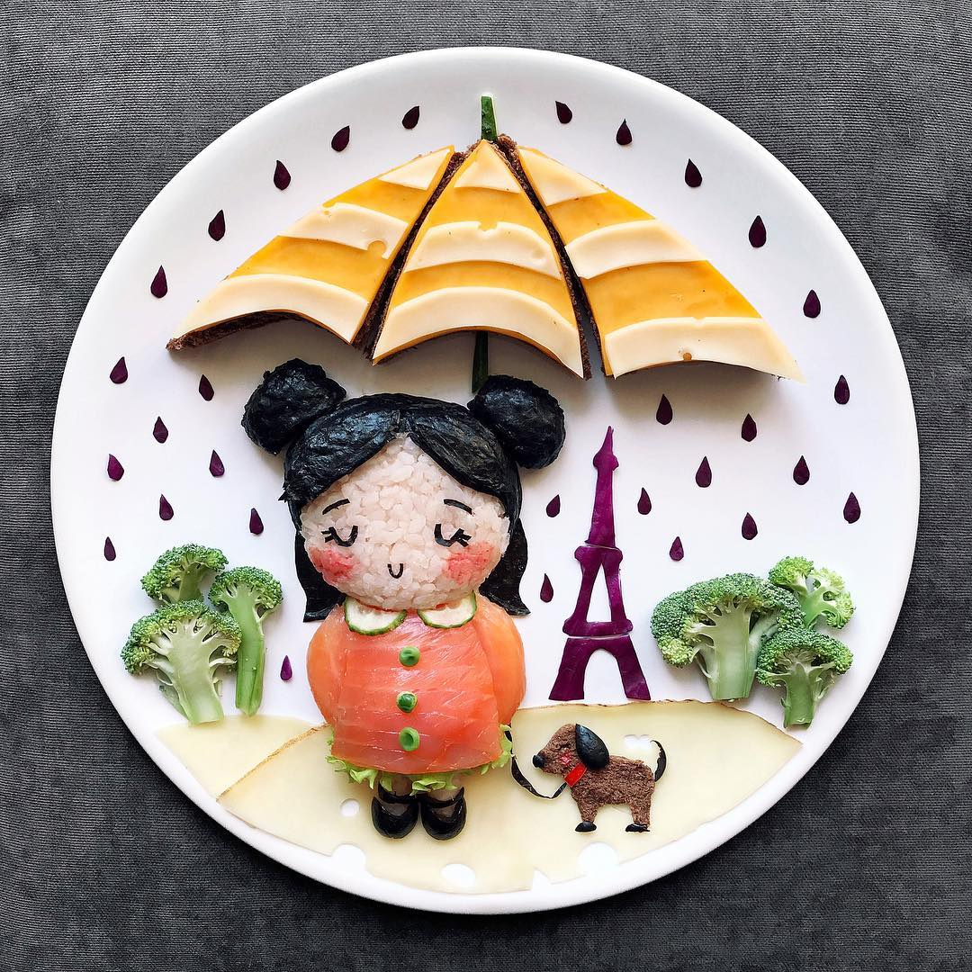 creative food art by darynakosar