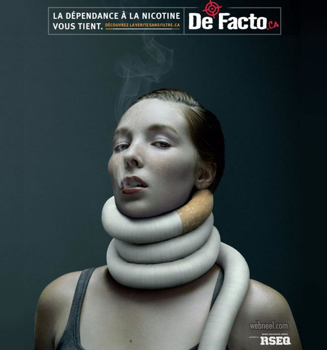 anti smoking advertising poster by rseq
