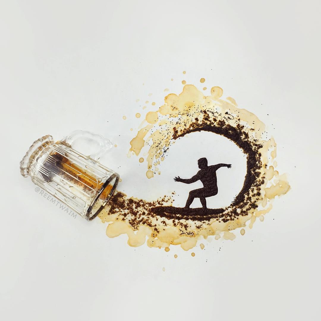 drawing coffee creative art by reem altwaim