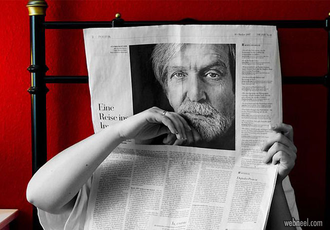 forced perspective photography newspaper