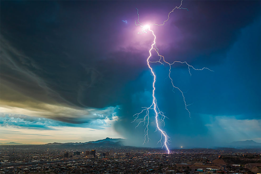 weather photography a predawn thunderstorm over el paso