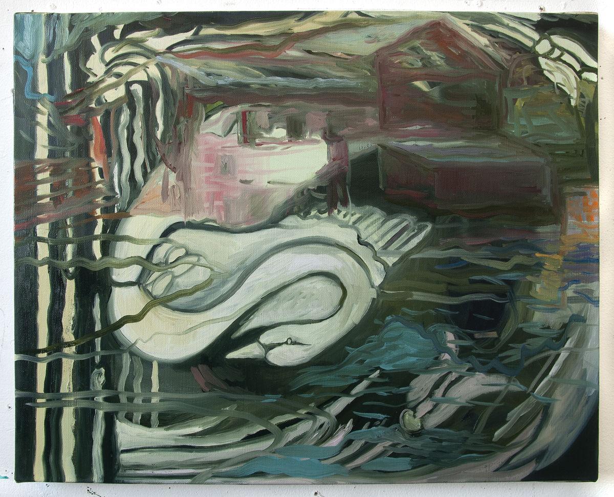 pandemic art exhibition swan