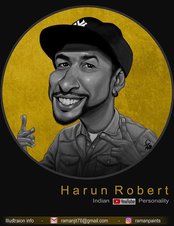 caricature harun robert