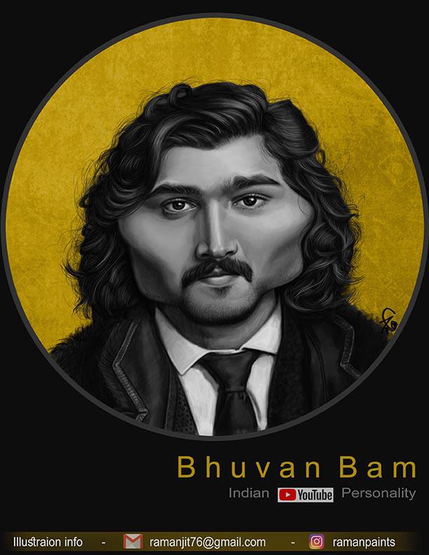 caricature bhuvan bam