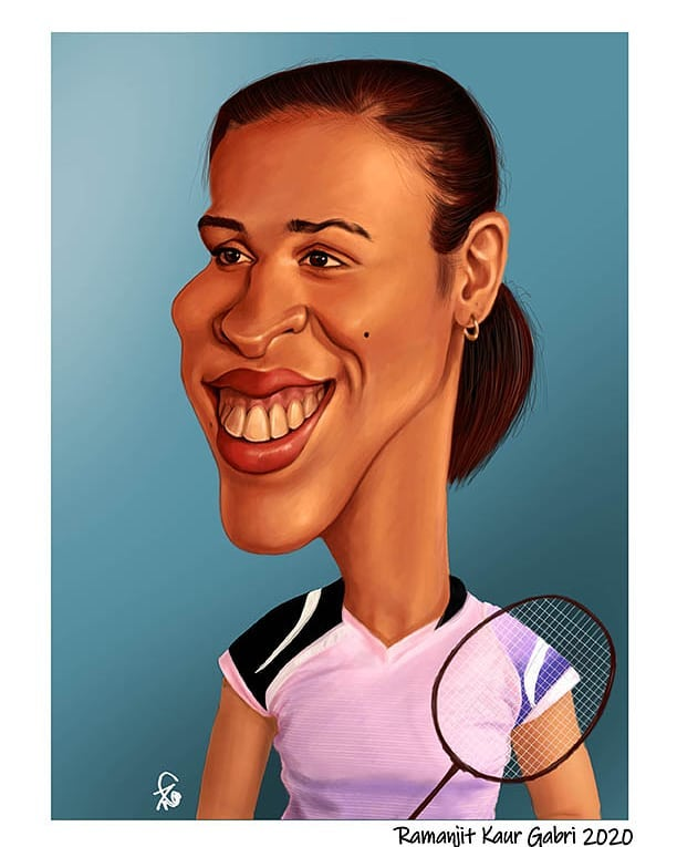 caricature saina nehwal