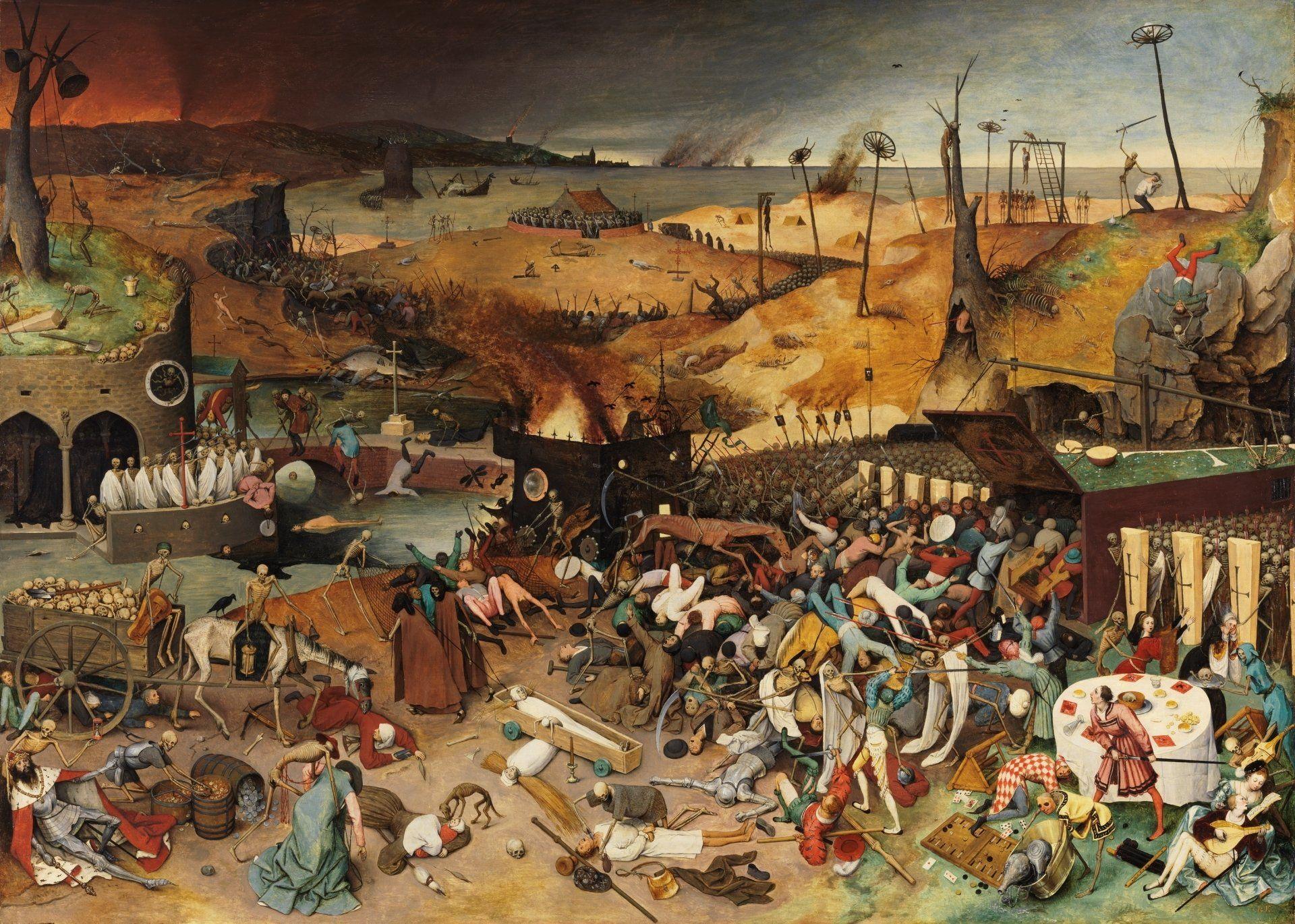 pandemic art exhibition the triumph of death