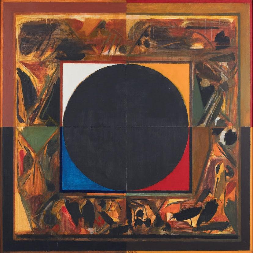 pandemic art exhibition black circle art