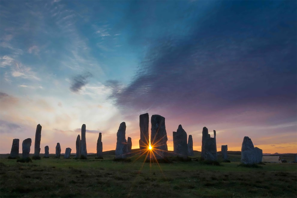 landscape photography award winning photo callanish sunburst by lewis