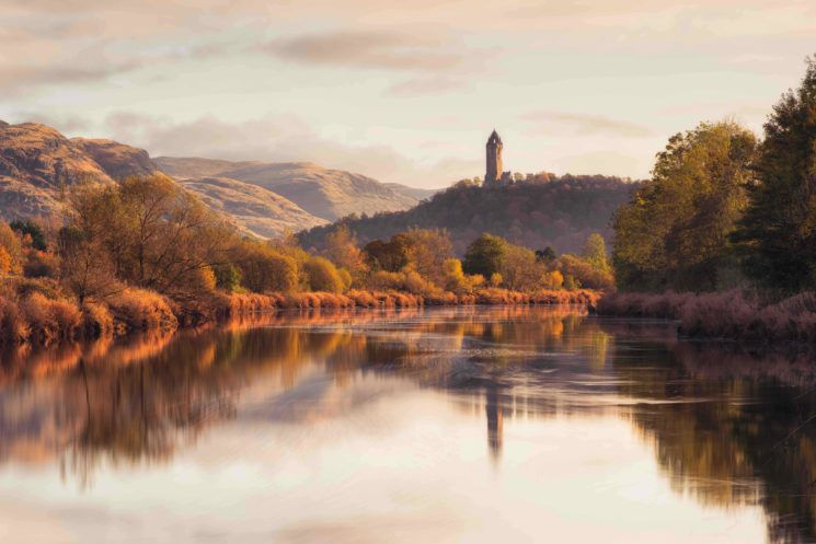landscape photography award winning photo wallace monument from the banks of