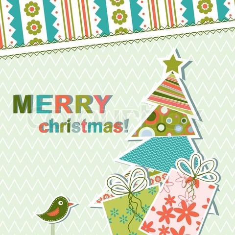 simple christmas greeting card
