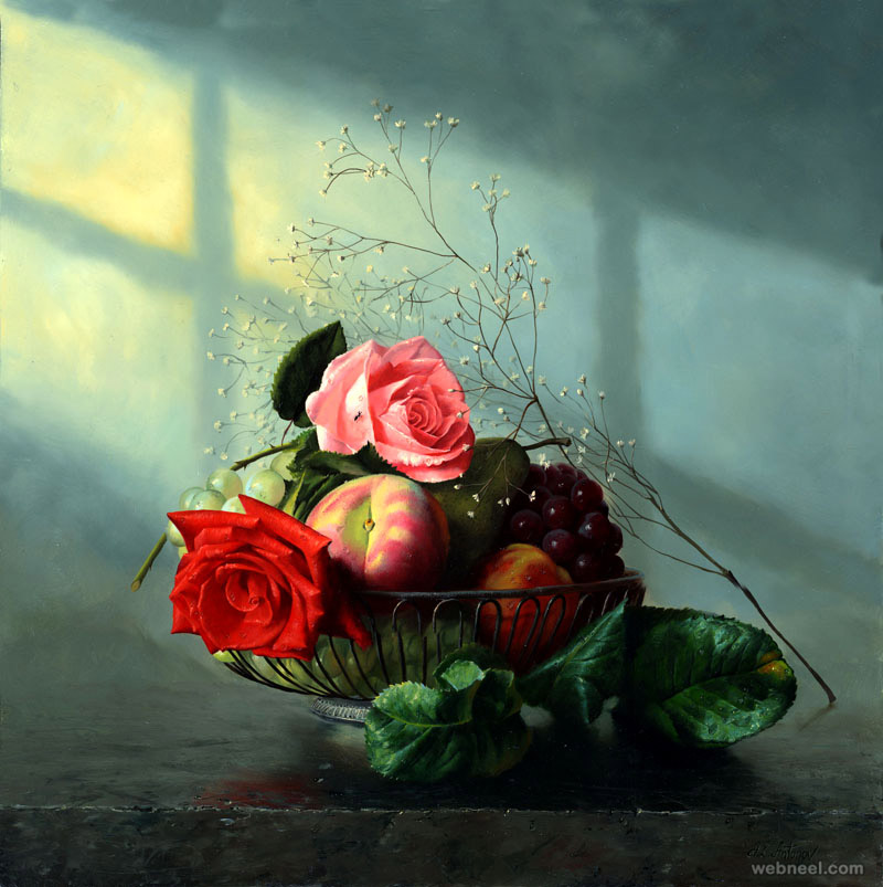 still life flower paintings
